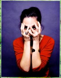 portrait en studio au polaroid 600SE